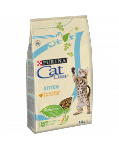 PURINA CAT CHOW Kitten. 1,5 kg. Croquettes Chaton riches en poulet