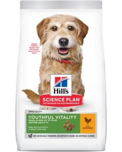 HILL'S SCIENCE PLAN Senior Vitality Small&Mini 1,5kg. Croquettes Chien +7 ans