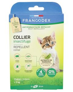 Collier insectifuge pour les chatons FRANCODEX