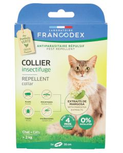 Collier insectifuge pour les chats FRANCODEX