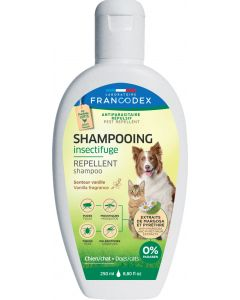 Shampooing antiparasitaire répulsif vanille chien et chat FRANCODEX