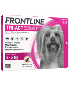 Solution antiparasitaire mini chien de 2 à 5 kg FRONTLINE TRI-ACT
