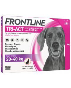 Solution antiparasitaire grand chien de 20 à 40 kg FRONTLINE TRI-ACT