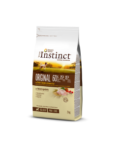 TRUE INSTINCT  Original Poulet Riz complet.  Croquette chien adulte mini