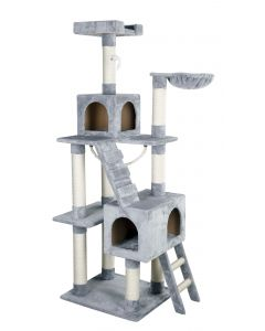 Grand arbre à chat gris Square 178 cm pour chat KERBL