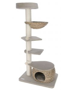 Arbre à chat Banana Leaf Tower beige tressé 144 cm KERBL