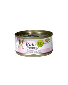 BUBIMEX. Bubi Nature Filets de poulet. 70 g. Boite pour chat adulte