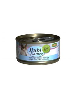 BUBIMEX. Bubi Nature poissons de l'Océan. 70 g. Terrine chat adulte