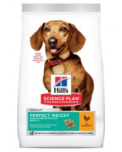 HILL'S SCIENCE PLAN Perfect Weight Chien Mini 1,5 kg Croquette chien