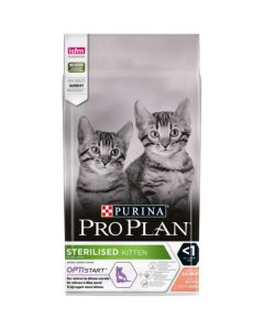 PURINA PRO PLAN Sterilised Kitten Optistart  Croquettes saumon chaton stérilisé