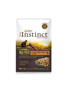 TRUE INSTINCT High Meat Poulet. 70 g. Sachets fraicheurs pour chat