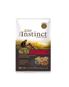 TRUE INSTINCT High Meat Bœuf. 70 g. Sachets fraicheurs pour chat