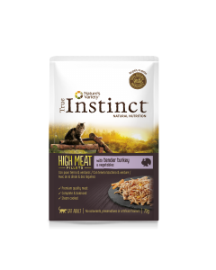 TRUE INSTINCT High Meat Dinde et légumes. 70 g. Sachet fraicheur Chat