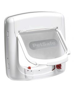 Porte à infrarouge Deluxe blanche pour chat et chien STAYWELL