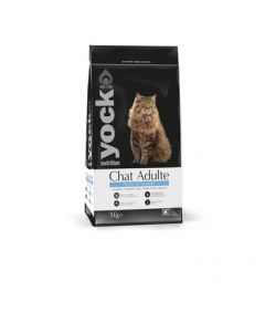 YOCK NUTRITION Chat adulte. 3 Kg. Croquette pour chat riche en saumon