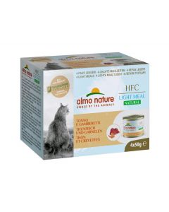 ALMO NATURE HFC Light Meal Thon et Crevettes Chat