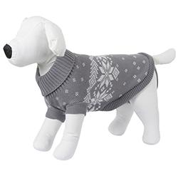 Pull gris pour mini et petit chien KERBL